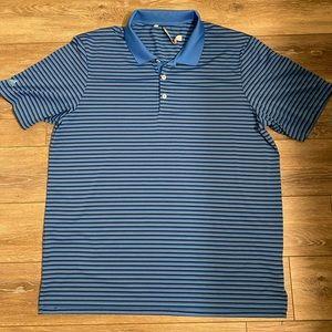 Adidas Golf Stripe Athletic Polo T-Shirt Sz XL